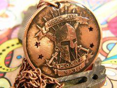 Molon Labe Copper Pendant