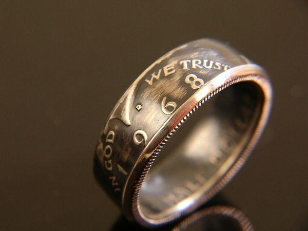 1965-'70 Kennedy Half Dollar Coin Ring