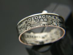 State Quarter Coin Ring 1999-2008