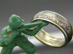 Zero Fucks Coin Ring, Style A