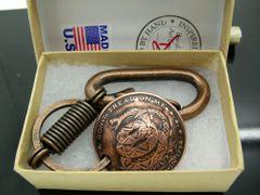 Don't Tread On Me Pendant w/Belt clip/Key chain