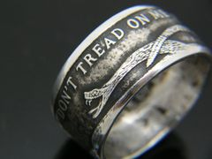 Silver DON'T TREAD ON ME Coin Ring