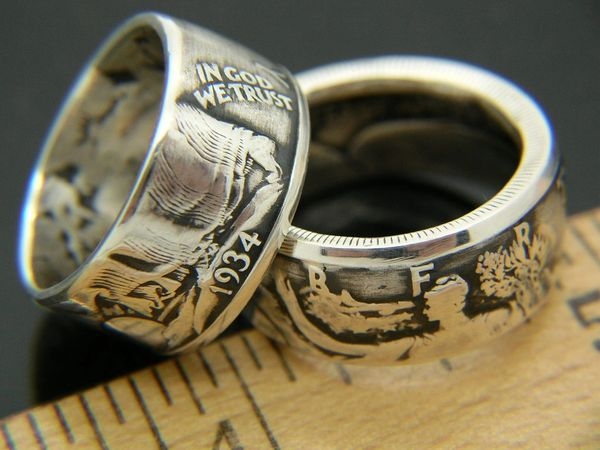 Walking Liberty Half Dollar Coin Ring 1916-1947