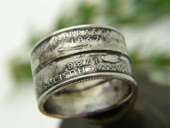 Double Quarter Coin Ring