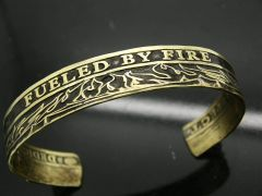 Fueled By Fire, Driven By Courage Coin Cuff Bracelet
