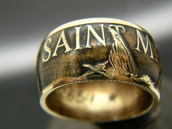 St. Michael, Law Enforcement Coin Ring