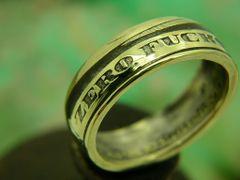Zero-Fucks-Coin.Com Ring, Style B