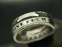 One Fuck Coin Ring