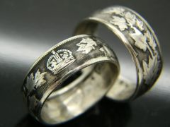 Canadian Half Dollar Coin Ring