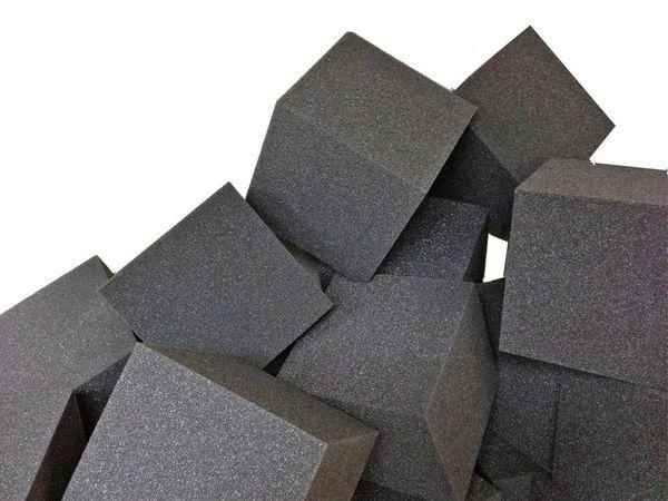 Gymnastic Pit Foam Cubes Blocks 1000 Pcs Charcoal Foam