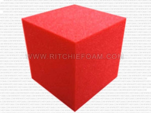 "5""x5""x5"" Gymnastic Pit Foam Cubes/Blocks 250 pcs (Red)"