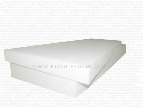 "6"" x 24"" x 80"" (1850) EXTRA FIRM Seat Cushion - High Density Foam"