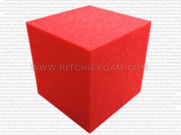 "6""x6""x6"" Gymnastic Pit Foam Cubes/Blocks 168 pcs (Red)"