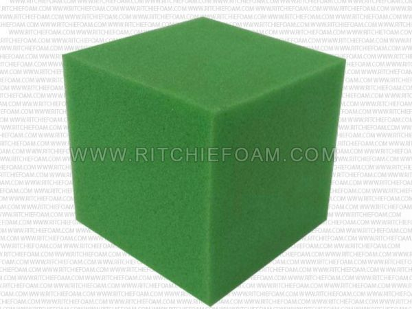 "5""x5""x5"" Gymnastic Pit Foam Cubes/Blocks 250 pcs (Lime Green)"