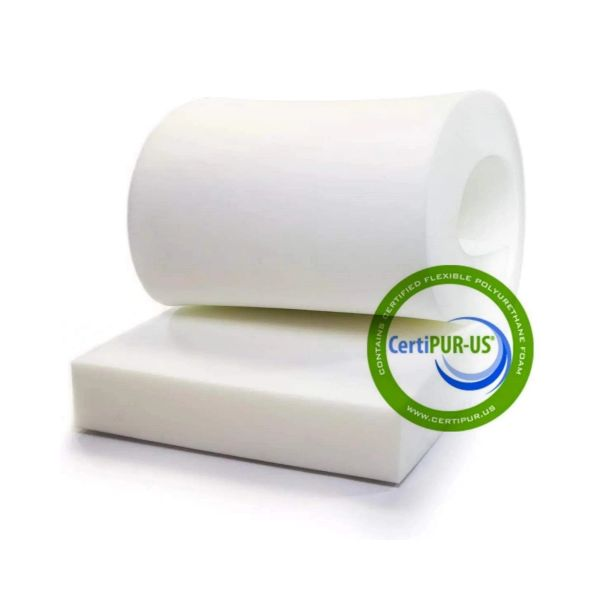 "4""T x 24""W x 80""L (1836) ""Medium Firm Plus"" Upholstery Foam Cushion, Density 1.8#, Compression 36ILD"