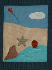 kite on beach