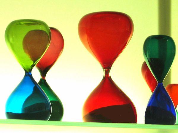Murano hourglasses