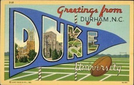 Duke postcard