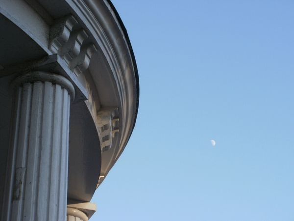 Old Well roof and moon