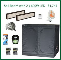 7x7x6.5 Soil Grow Package