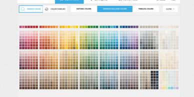 Sherwin Williams Color Snap color selection tool.