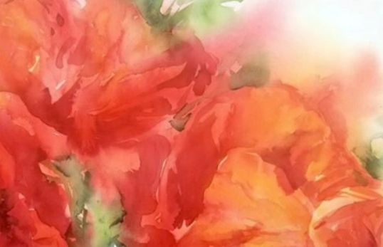 Watercolor lessons, how to paint, watercolor flowers