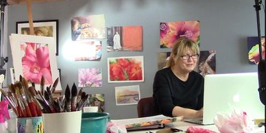 Online watercolor courses, how to paint watercolor, floral painting, landscape painting