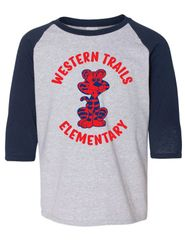 WESTERN TRAILS RETRO BASEBALL SHIRT