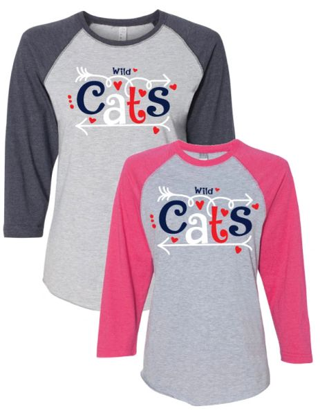 WILDCATS JUMBLE RAGLAN