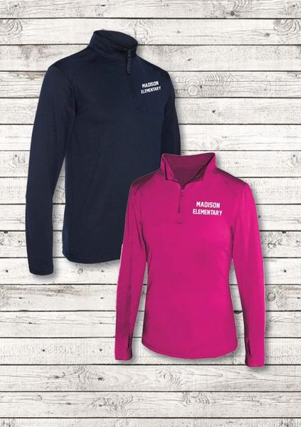 ATHLETIC 1/4 ZIP LONG SLEEVE T