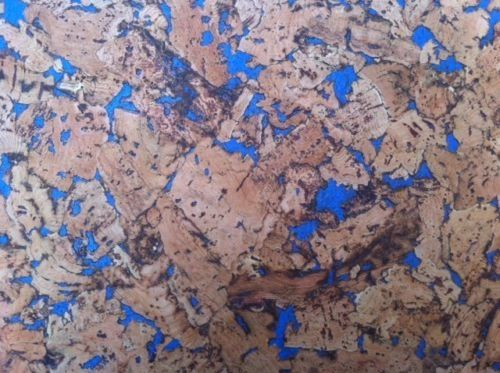 Blue Pattern Cork Wall Tiles - 300mm x 300mm - 3mm thick - Pack of 6