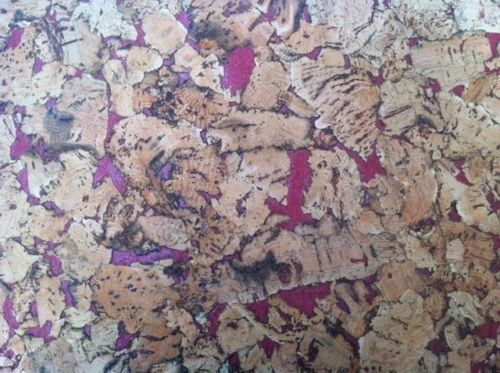Red Pattern Cork Wall Tiles - 300mm x 300mm - 3mm thick - Pack of 6