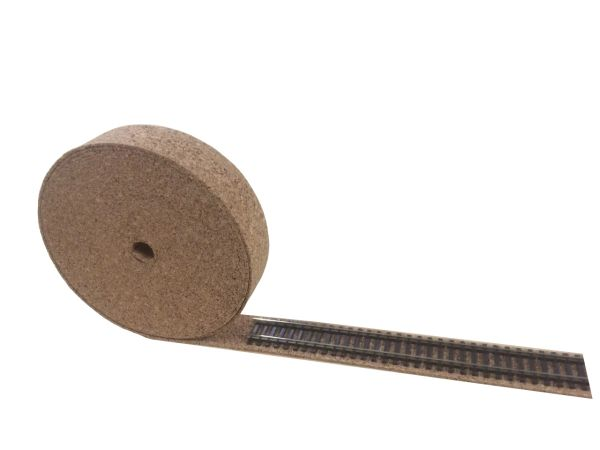 OO Gauge - Model Railway Cork Track Underlay 10 Meter Long - 2mm Thick