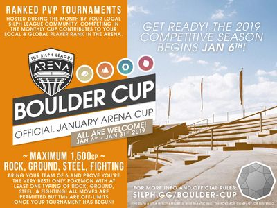 NJ GO Battle League Silph Arena Boulder Cup
