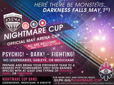 NJ GO Battle League Silph Arena Nightmare Cup