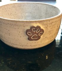 Handmade Pottery Dog Bowl + Ramble Jamble Treats