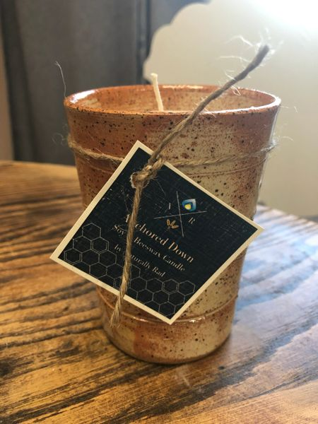 Hand Thrown Pottery Candle - Anchored Down