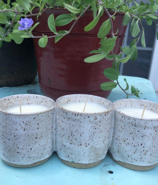 Triple Threat Pottery Candle - Almost Christmas