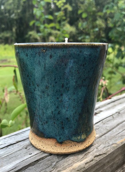 Two tone pottery candle - Very Vanilla