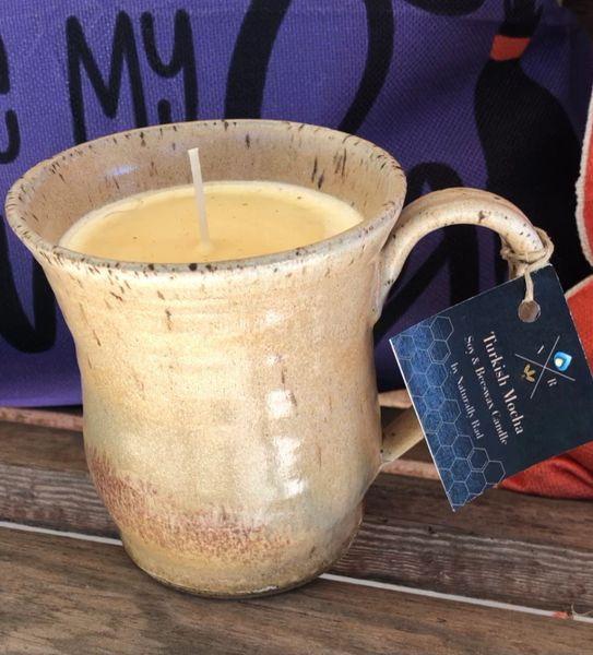 Turkish Mocha Handthrown Pottery Candle