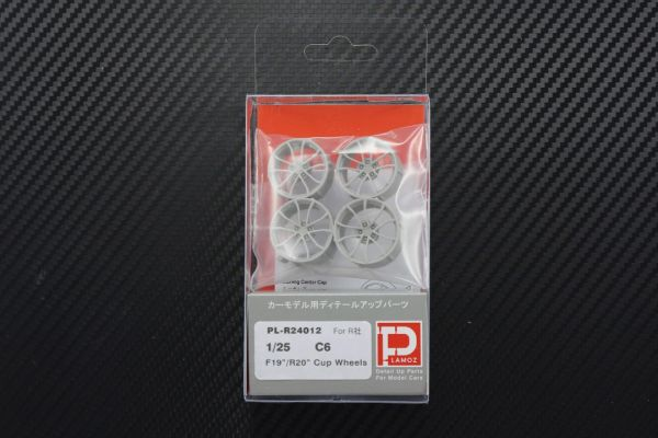 "1/25 C6 F19"" R20"" Cup Wheels Set"