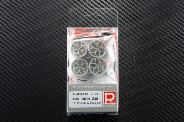 """1/25 2014 Z28 19"""" Wheels and Tires Set"""