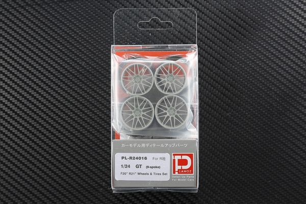 "1/24 GT (9-spoke) F20"" R21"" Wheels & Tires set"
