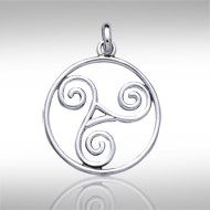 Triskele Sterling Silver Pendant - PS International