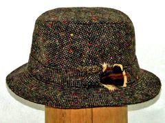 Irish Pebble Tweed Soft Walking Hat - Hanna Hats of Donegal