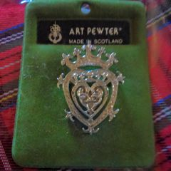 Brooch -The Luckenbooth - Art Pewter of Scotland