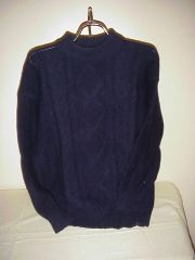 Aran Sweater by Alice Collins of Scotland - POLLY Midnight Navy