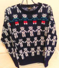 Wool SweaterTeddy Bears Line Dancing - by Maban of Scotland