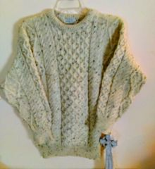 Authentic Irish Aran Knit with Peat Fleck - Thomas Keeling of Ireland