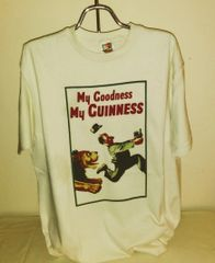 Guinness T-shirt - Lion Chasing the Trainer
